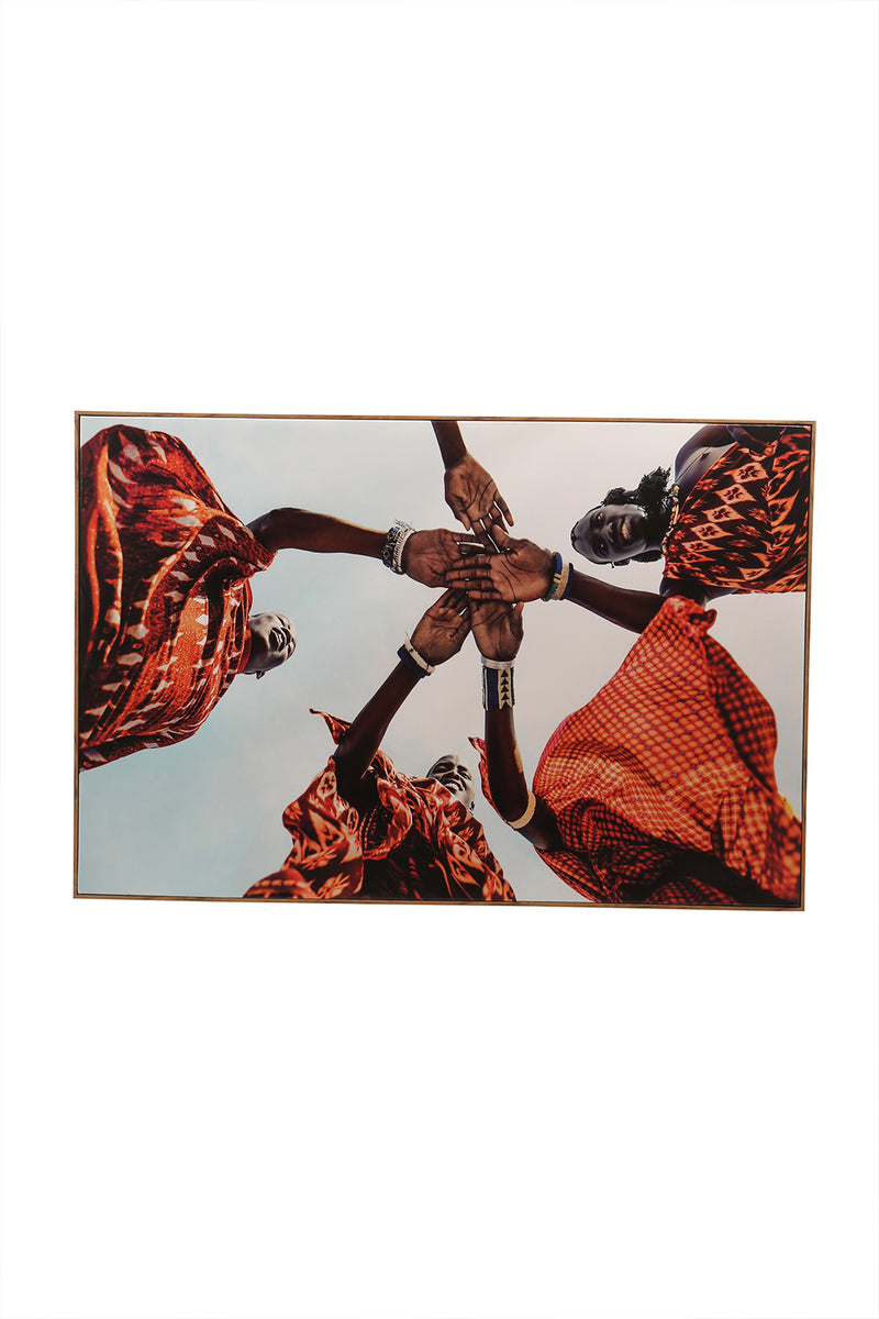 Friendship Hands Framed Canvas Print