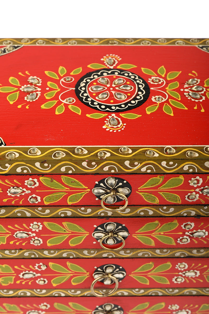 Painted Four Drawers Box