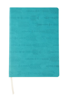 Geometric Patterned Soft PU B5 Notebook