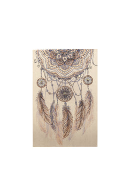 Frameless Dream Catcher Jewels Canvas Print