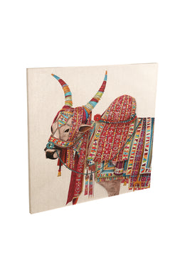 Sacred Bull with Jewels Canvas Print