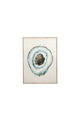 Gemstone Geode Foil Canvas Print