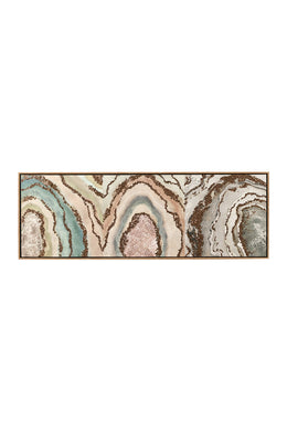 Gemstone Geode Gold Leaf Canvas Print
