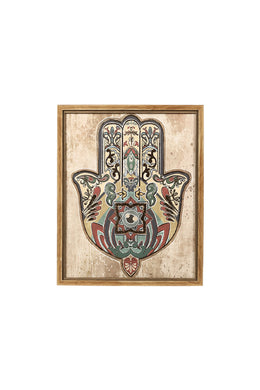 Multicolour Hamsa Hand Canvas Print