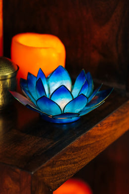 Ombre Lotus Tealight Holder