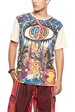 Graphic Twisted Peace Sign Tee