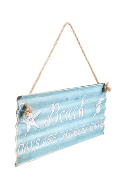 Best Beach Days Iron Wall Hanging