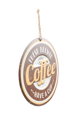 Fresh Coffee Iron Wall Hanging