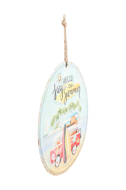 Hello Summer Iron Wall Hanging
