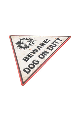 Beware the Dog Iron Wall Hanging