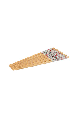 Red Blossom Chopstick Set of 5