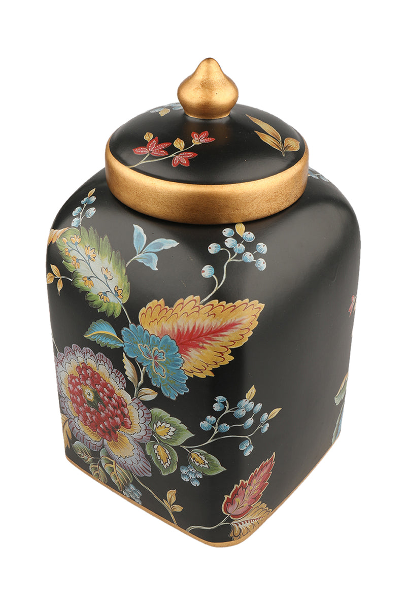 Tropical Black Cookie Jar