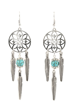 Gem Bead Dreamcatcher Earring