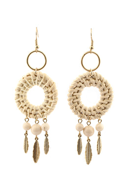 Seaside Feather Woven Earrings