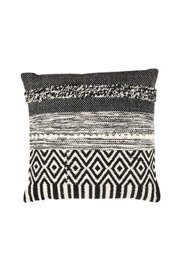 Black Diamond Pattern Cushion