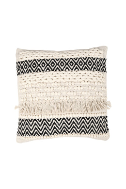 Fringe Texture Black Patterning Cushion