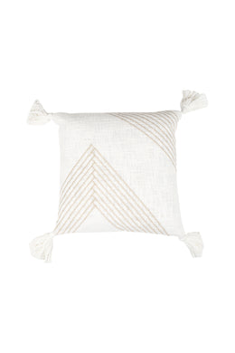 Zig Zag Tassel Natural Colour Cushion
