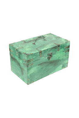 Distressed Paint Teal Wooden Box