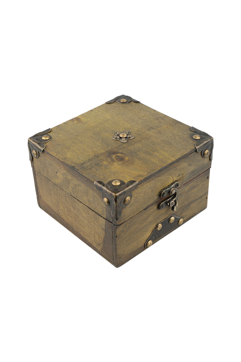 Iron Fitted Wooden Box