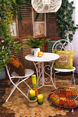 Iron Table & Chairs Outdoor Setting
