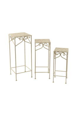 Outdoor Iron Plant Stand Set of 3