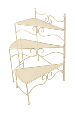 Outdoor Iron Three Tier Plant Stand