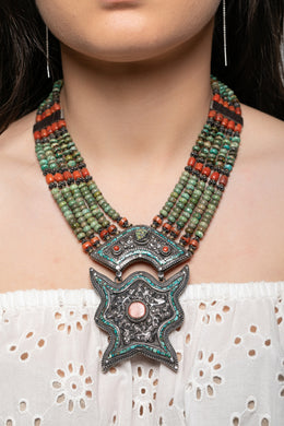 Vintage Tibetan Ornate Necklace