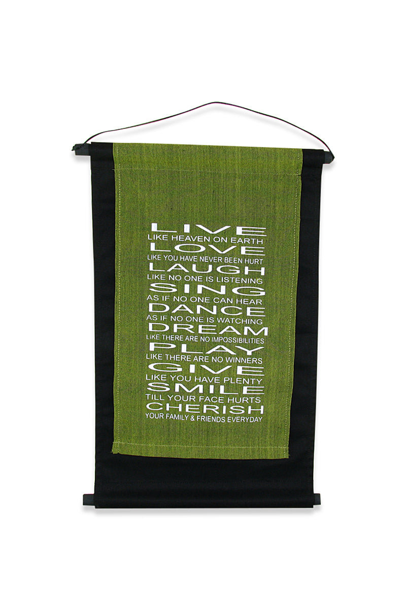 Olive Live Love Laugh Affirmation Banner