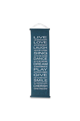 Live Love Laugh Affirmation Banner