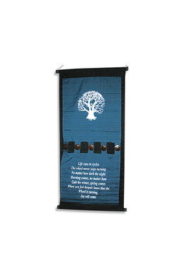 Buttoned Tree of Life Affirmation Banner