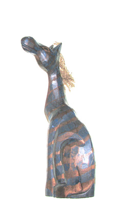 Small Blue Zebra Statue