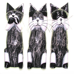 Three Wise Cats Set