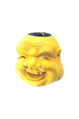 Yellow Buddha Face Oil Burner