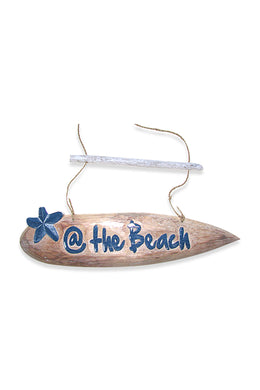 @ The Beach Surfboard Wall Hanging