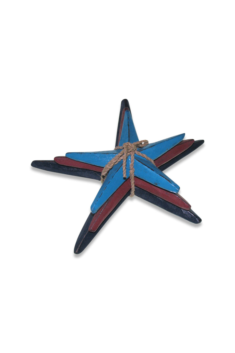Set of 3 Multi Starfish Ornaments