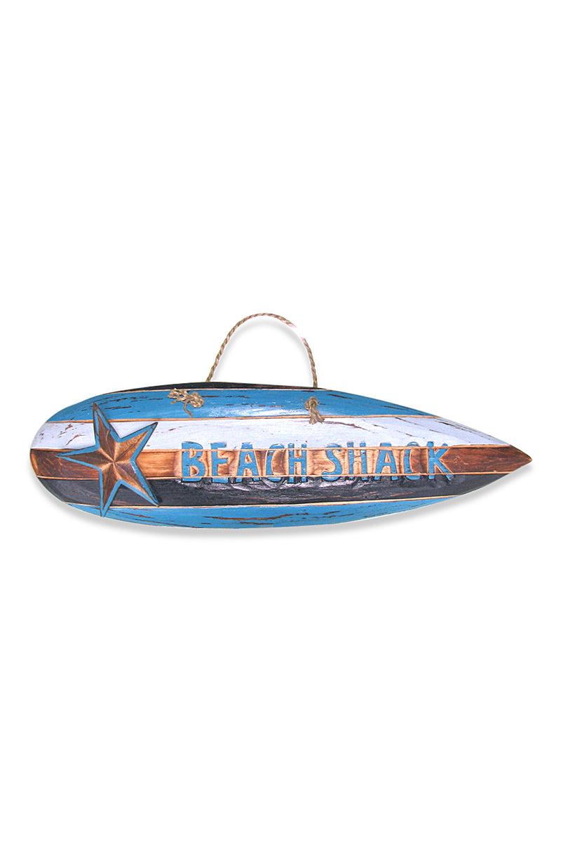 Beach Shack Surfboard Wall Hanging