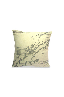 Antarctic Map Cushion