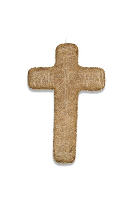 Natural Stitched Crucifix