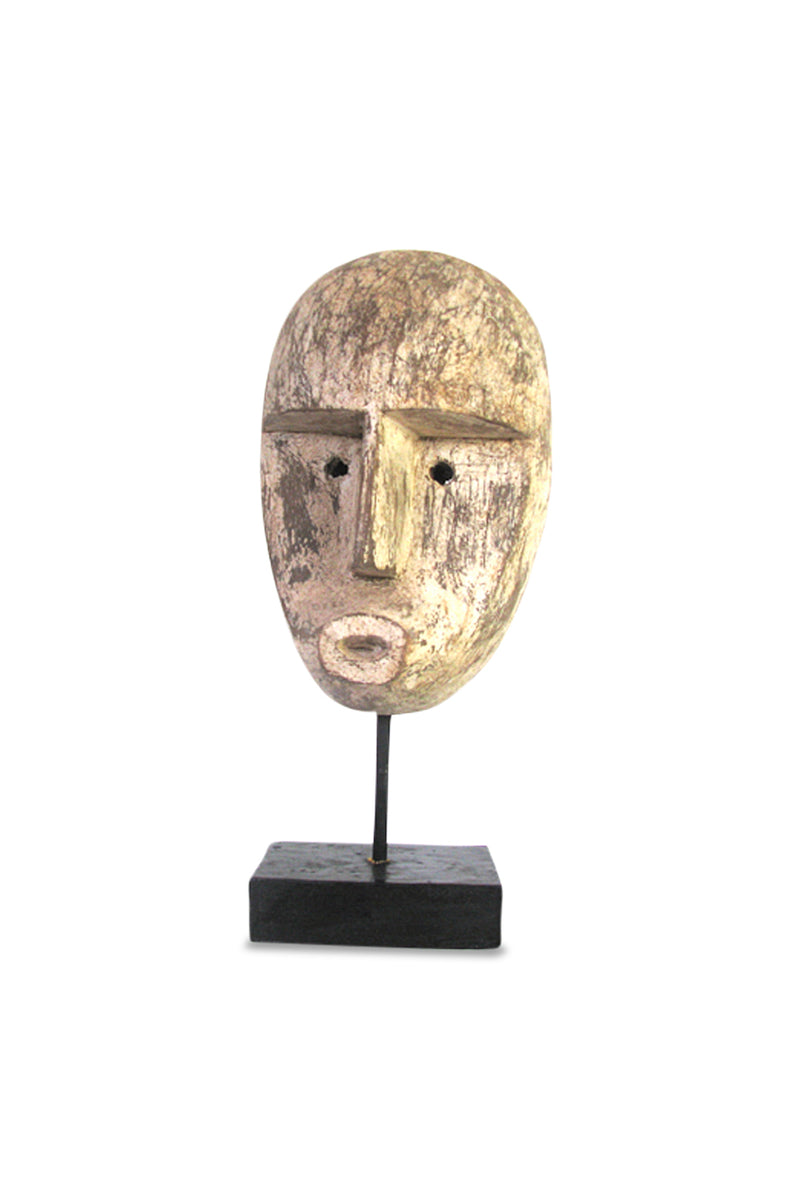 Tribal Man Head Statue
