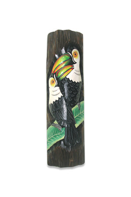 Carved Timber Toucan Wall Hanging