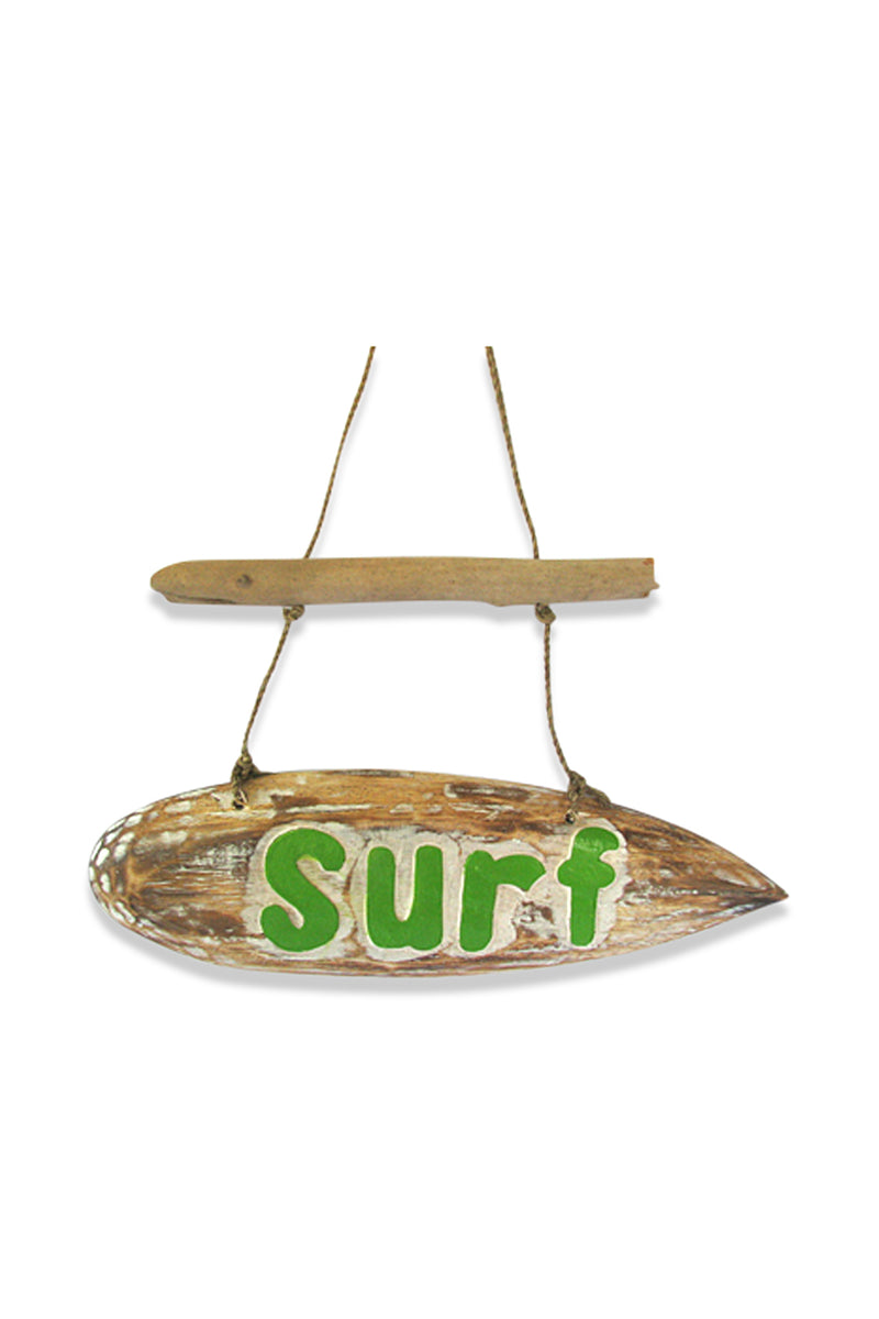 Green Surfboard Wall Hanging