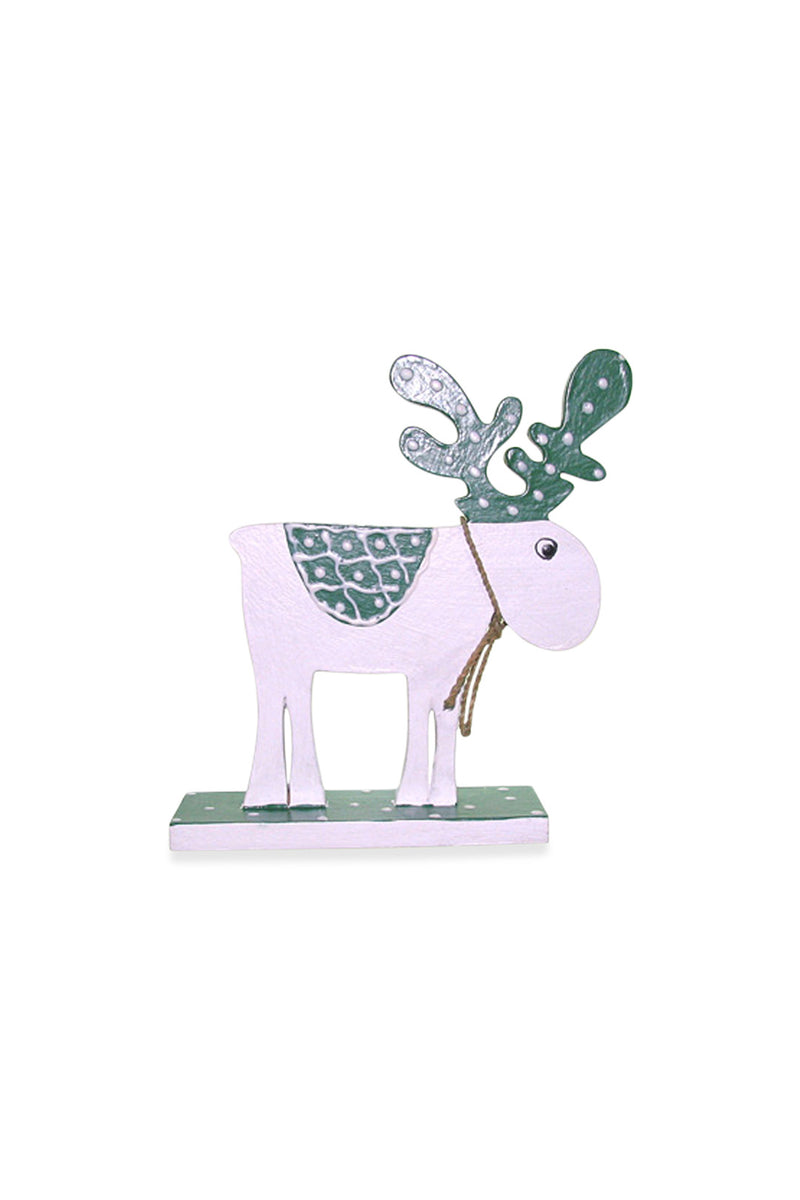 Green Standing Reindeer Ornament