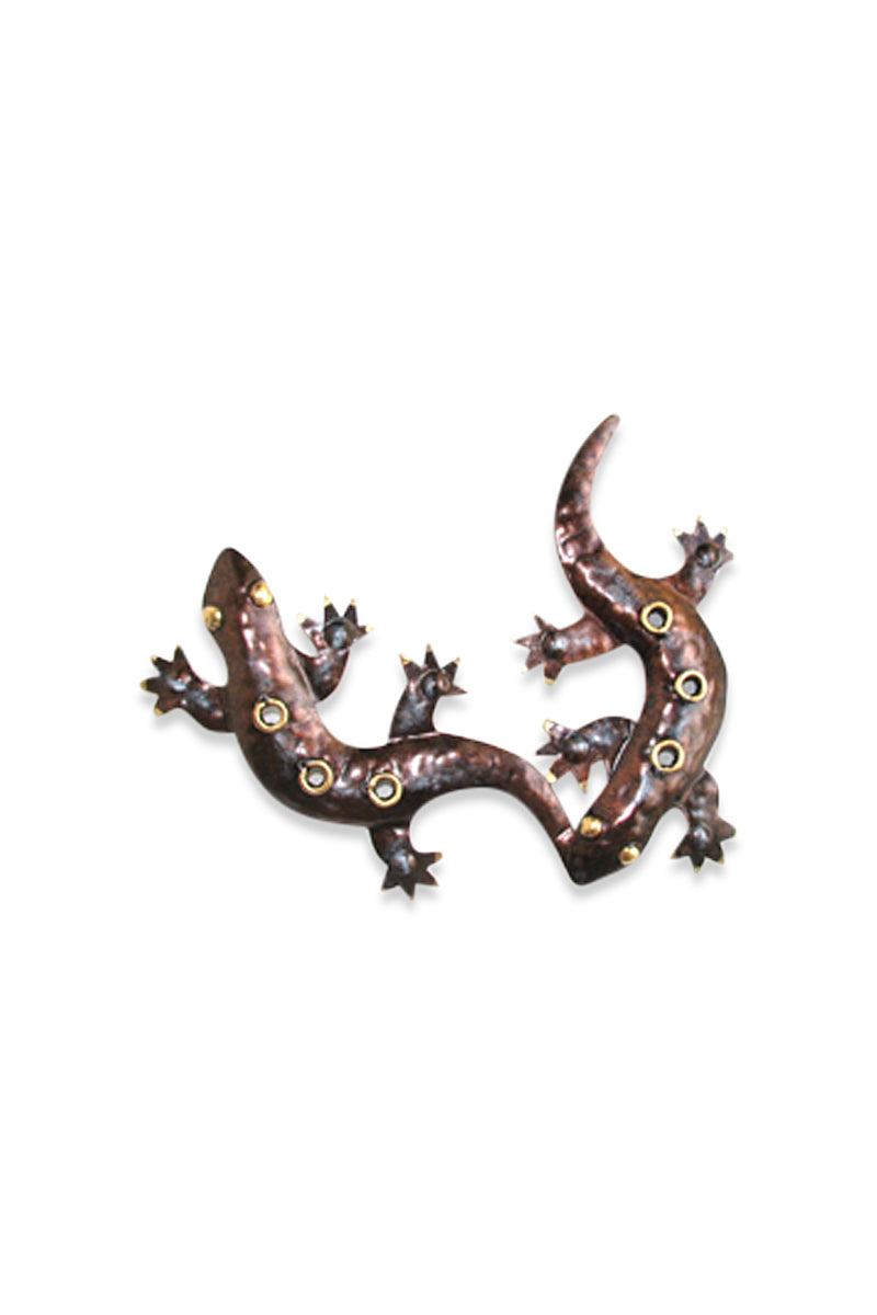Bronze Joined Gecko Wall Art