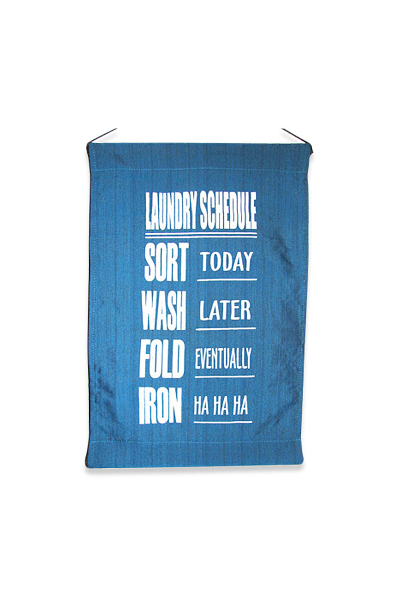 Laundry Schedule Banner