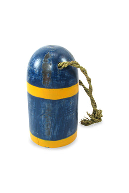 Blue & Yellow Stripe Hanging Float Ornament
