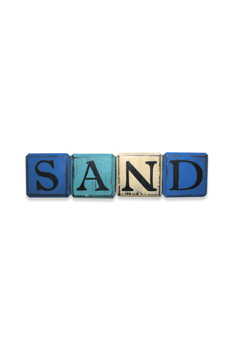 Sand Colourful Cubes Sign
