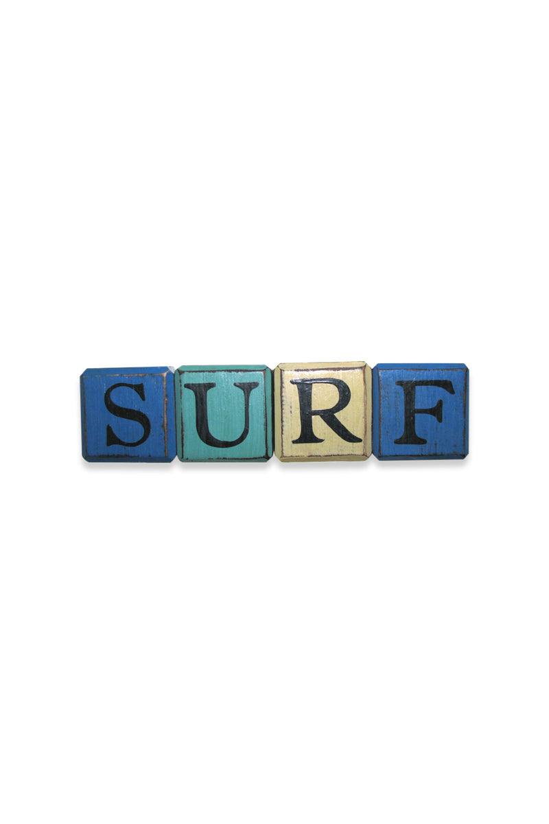 Surf Colourful Cubes Sign