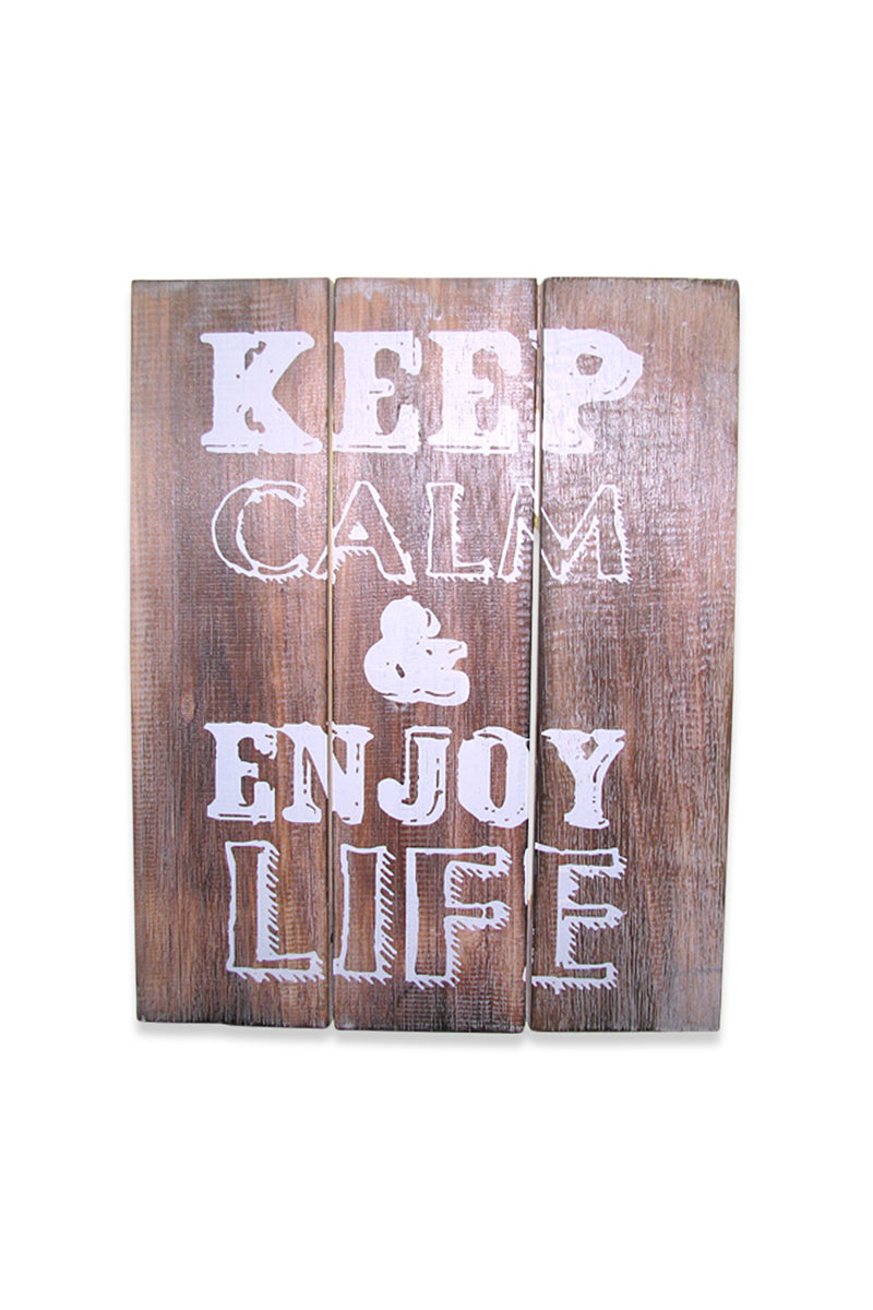 Keep Calm Wooden Sign