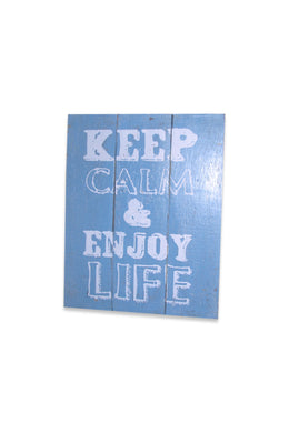 Keep Calm Blue Sign