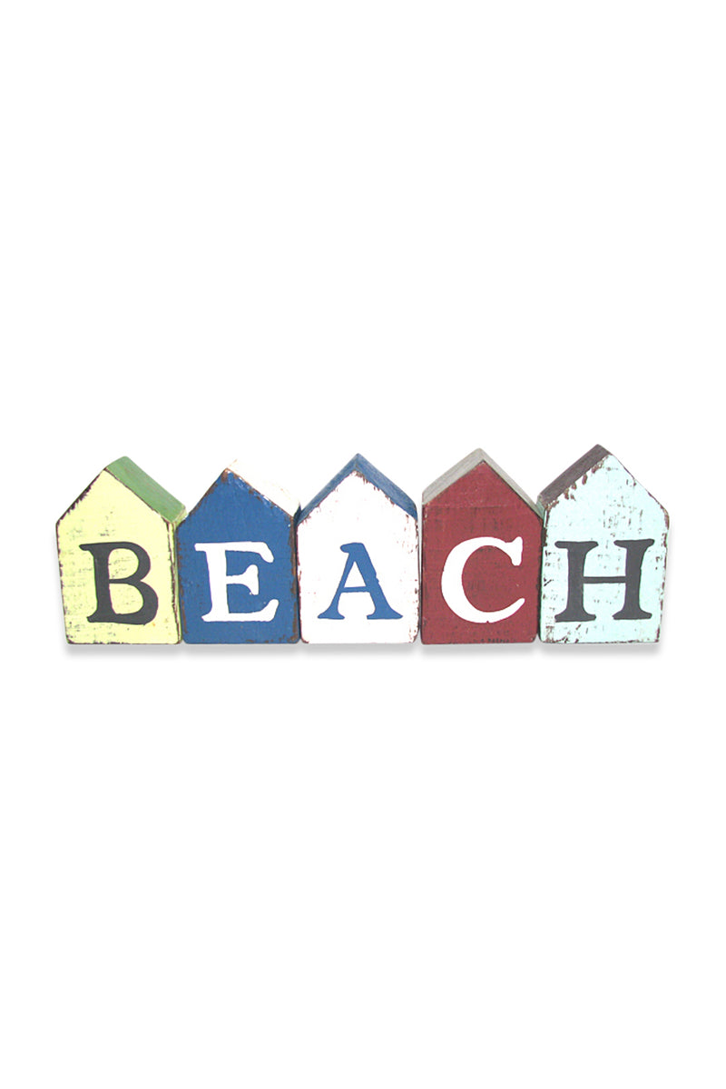 Beach Hut Letters Sign